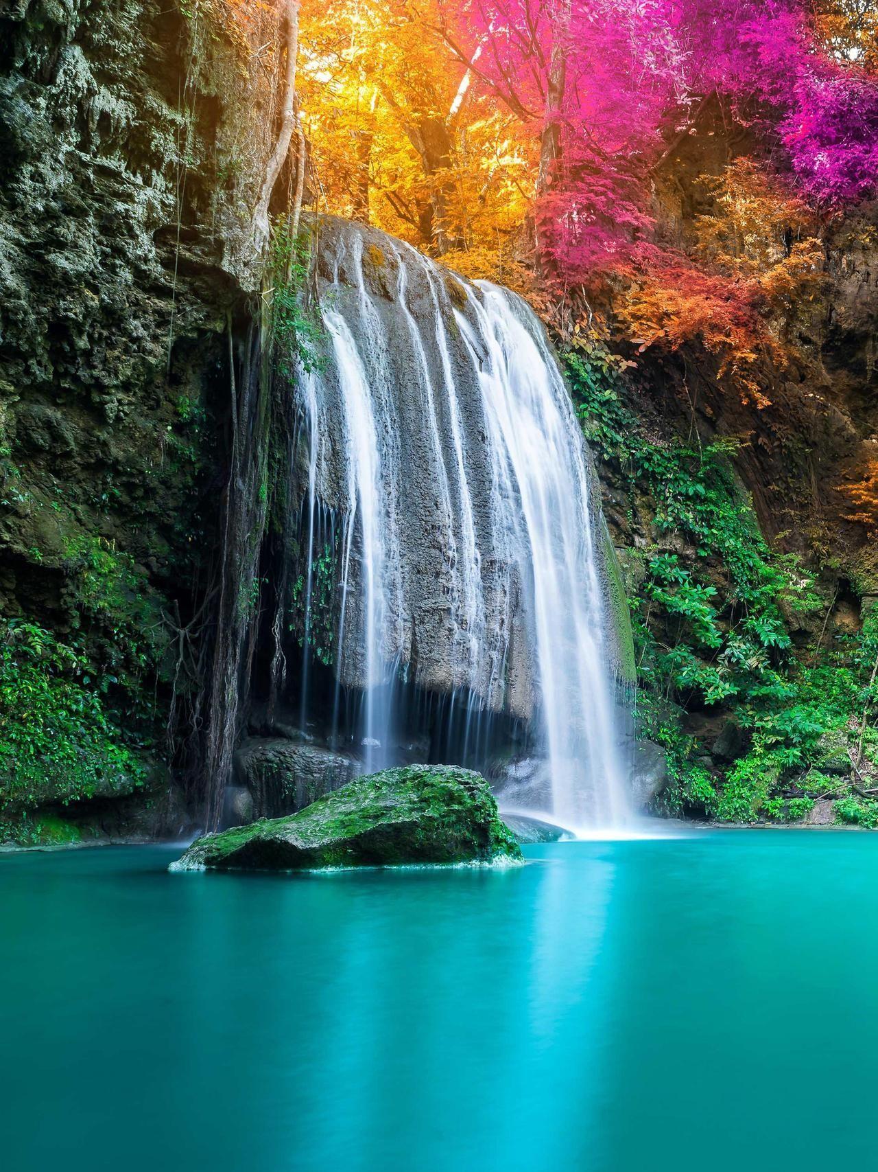 Incredible Waterfall At Ubud Indonesia Nature Photography Beautiful Nature Beautiful Landscapes Nature Photography