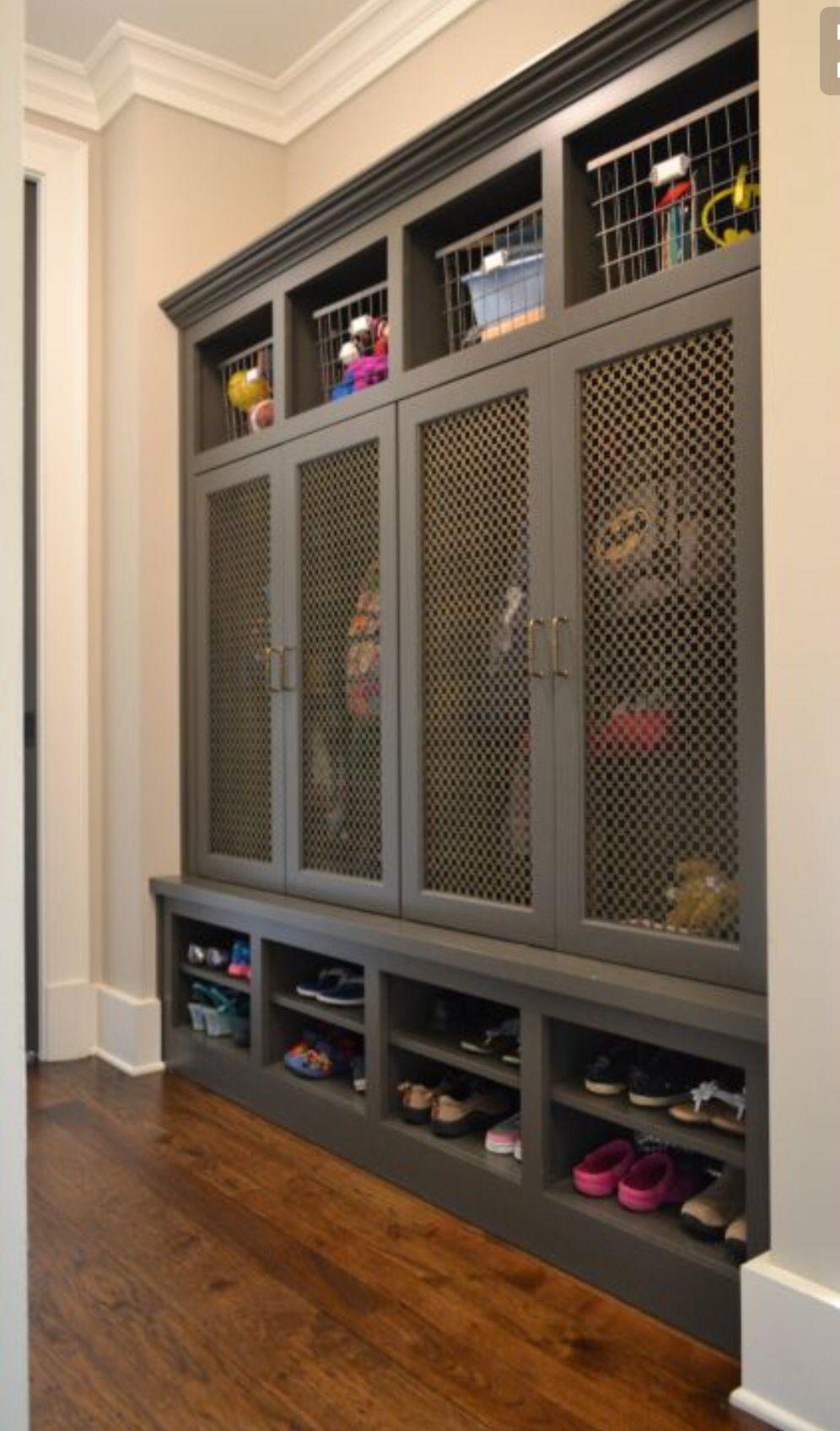 Locker style storage laundrymud room pinterest mudroom room