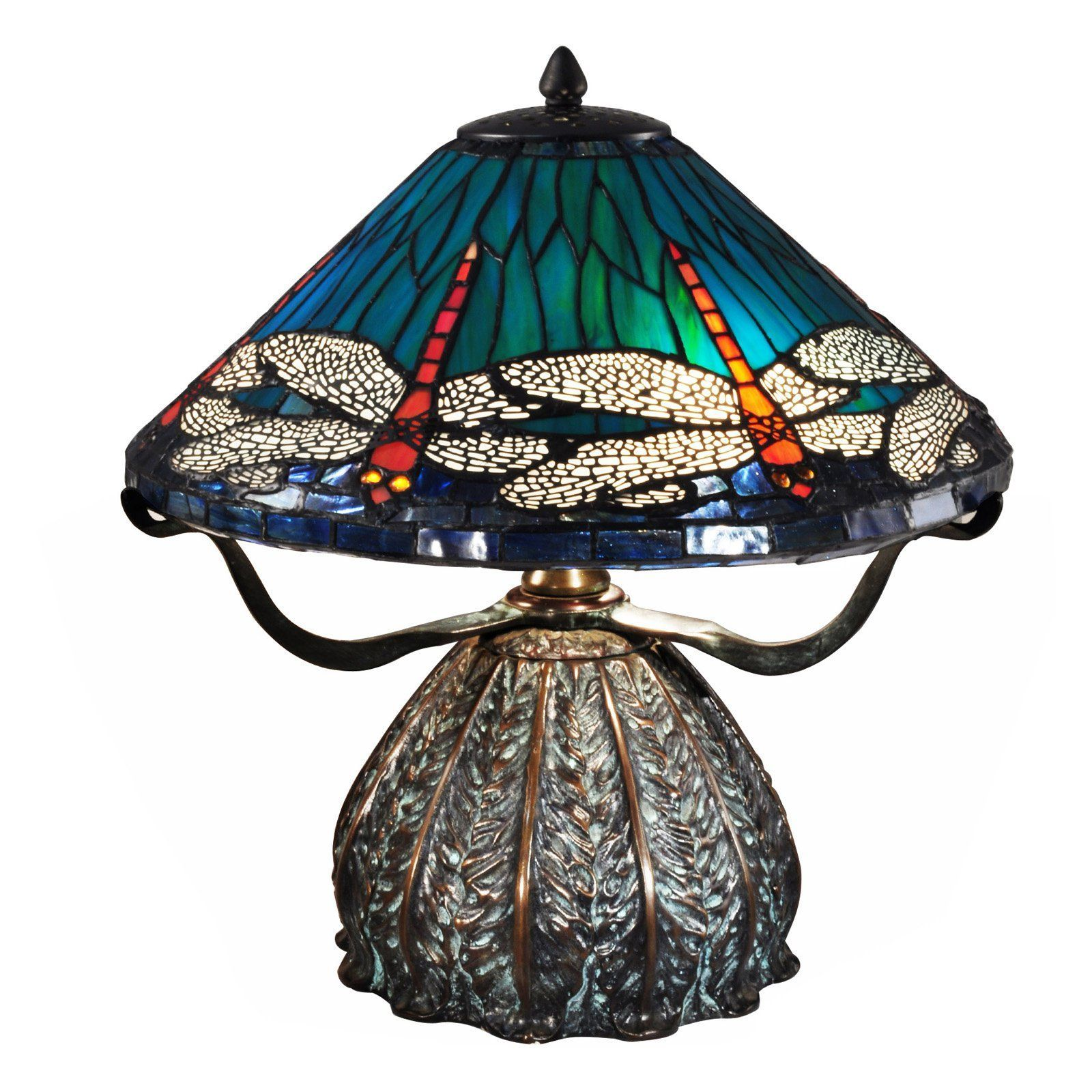 Dale Tiffany Dragonfly Trunk Table Lamp Tt15106 Table Lamp Vintage Table Lamp Vintage Style Table Lamps