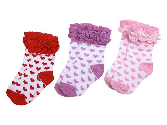 Toddler Jefferies Non-Skid Scalloped Turn Cuff 6 Pack Socks  Newborn Infant