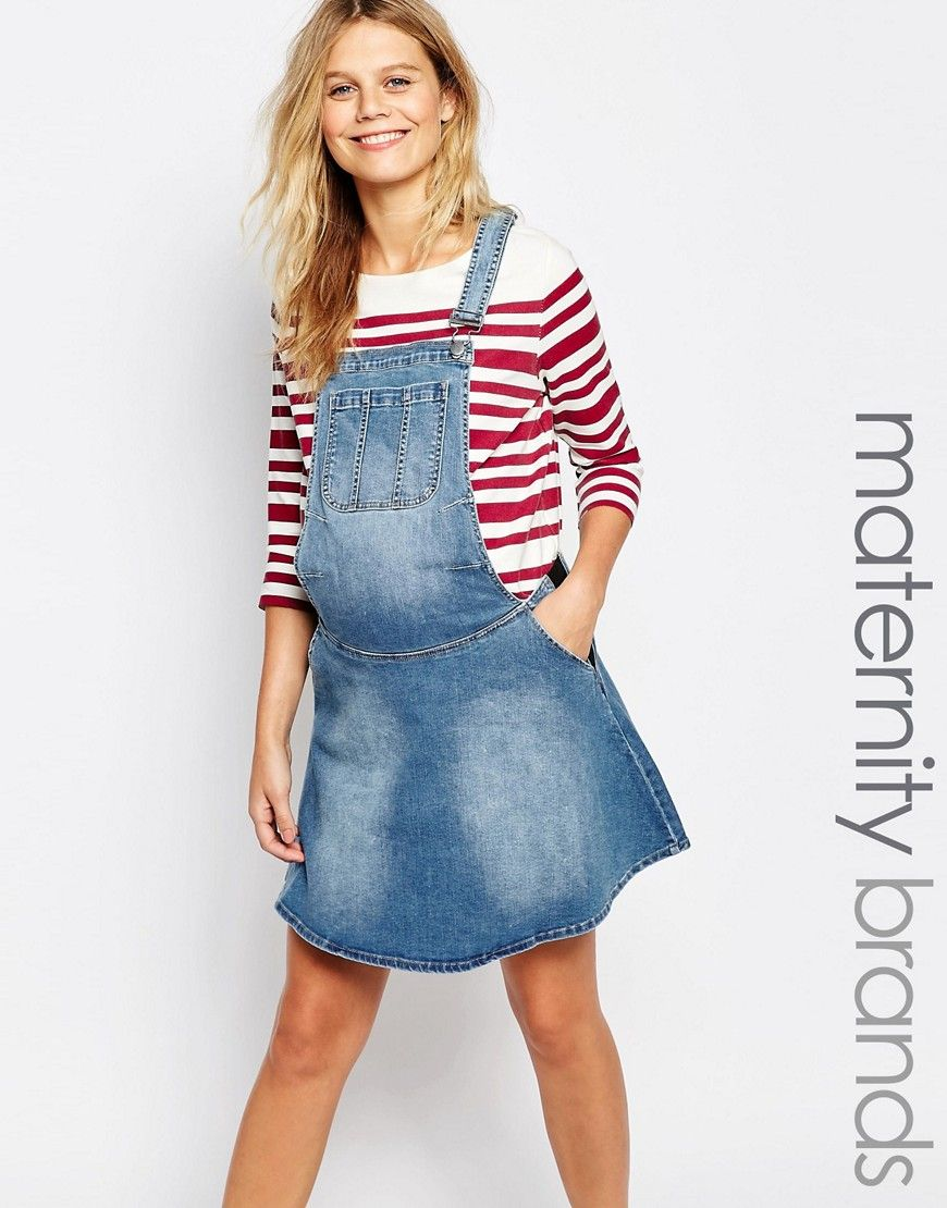 Image 1 of mamalicious denim pinafore dress what to wear image 1 of mamalicious denim pinafore dress ombrellifo Image collections