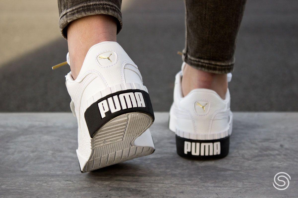 Puma Cali Wit/Zwart Dames | Zwart, Sneakers outfit ...
