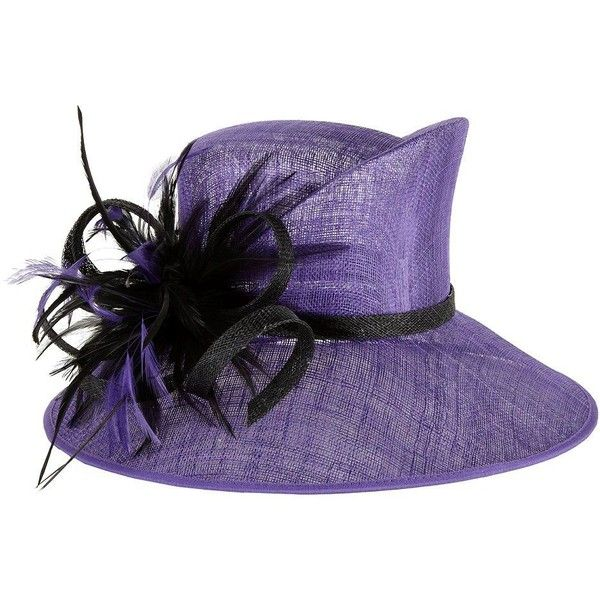6ada3ca0 Precis Petite Blackberry brim hat (£69) ❤ liked on Polyvore featuring  accessories, hats, brimmed hat, crown hat, feather hat, precis petite and  feather ...
