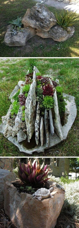 24 kreative diy ideen f r einen perfekten garten garten garten steingarten und. Black Bedroom Furniture Sets. Home Design Ideas