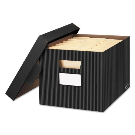 Decorative File Storage Boxes With Lids Bankers Box Storfile Decorative Storage Box Letterlegal Black