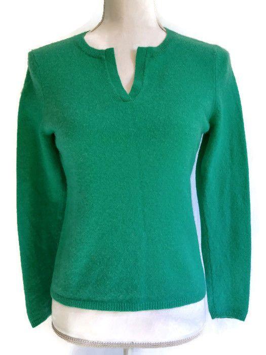 3cf5b3bdc67 Peck   Peck Green 2-Ply Cashmere Petite Sweater Medium  PeckandPeck   PullOver