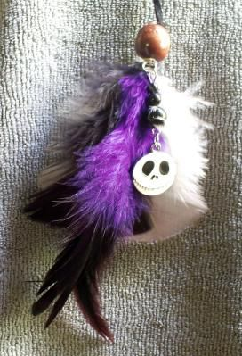 JACK SKELLINGTON New Feather Hair Extension Clip *Ships Free* Nightmare Before Christmas, Gothic