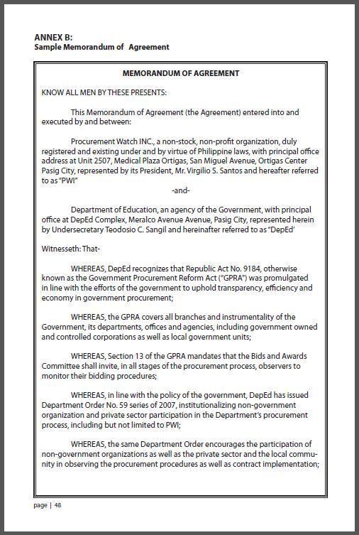Sample Memorandum of Understanding Business Partnership DOC by – Memorandum of Understanding Template