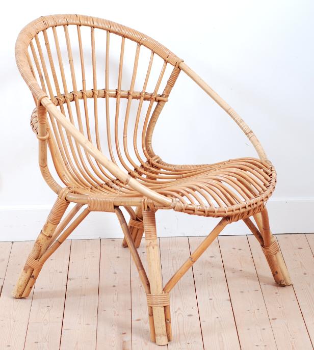 rotin si ge fauteuil jardin vintage lucinevintage. Black Bedroom Furniture Sets. Home Design Ideas