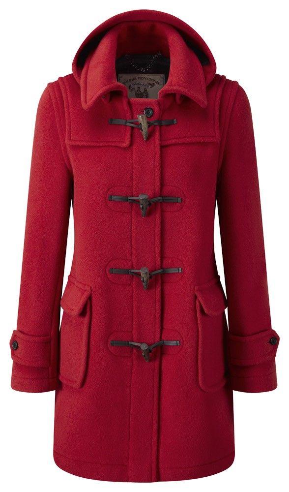 Womens London Duffle Coat -- Red   Clothes   Pinterest   Duffle ...