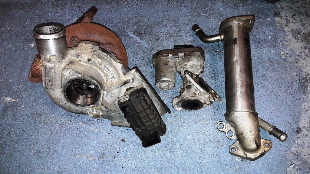 Set Of Turbo Charger Turbocharger Gt2052v 752610 15 6c1q 6k682 Egr