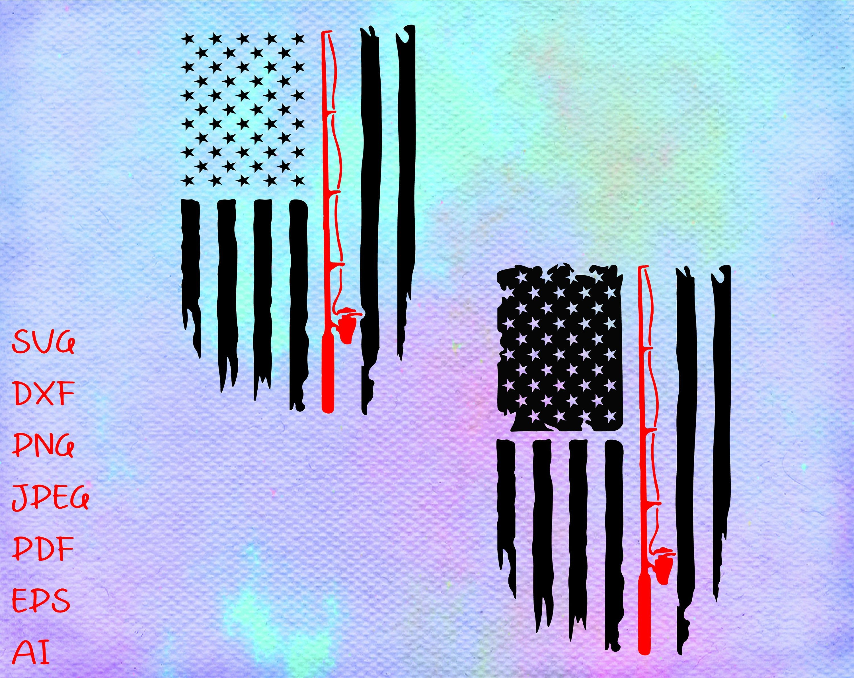 Fishing Distressed American Flag Svg Flag Fishing Rod Svg Etsy In 2020 Fishing Svg American Flag Tattoo Fisherman Gifts