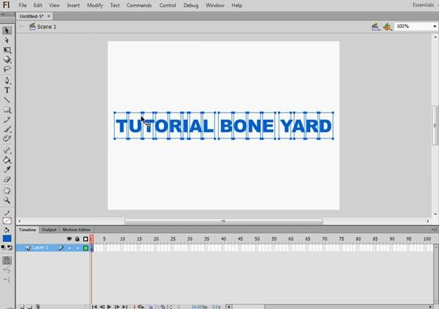 Text Animation In Flash | Tutorial-Bone-Yard
