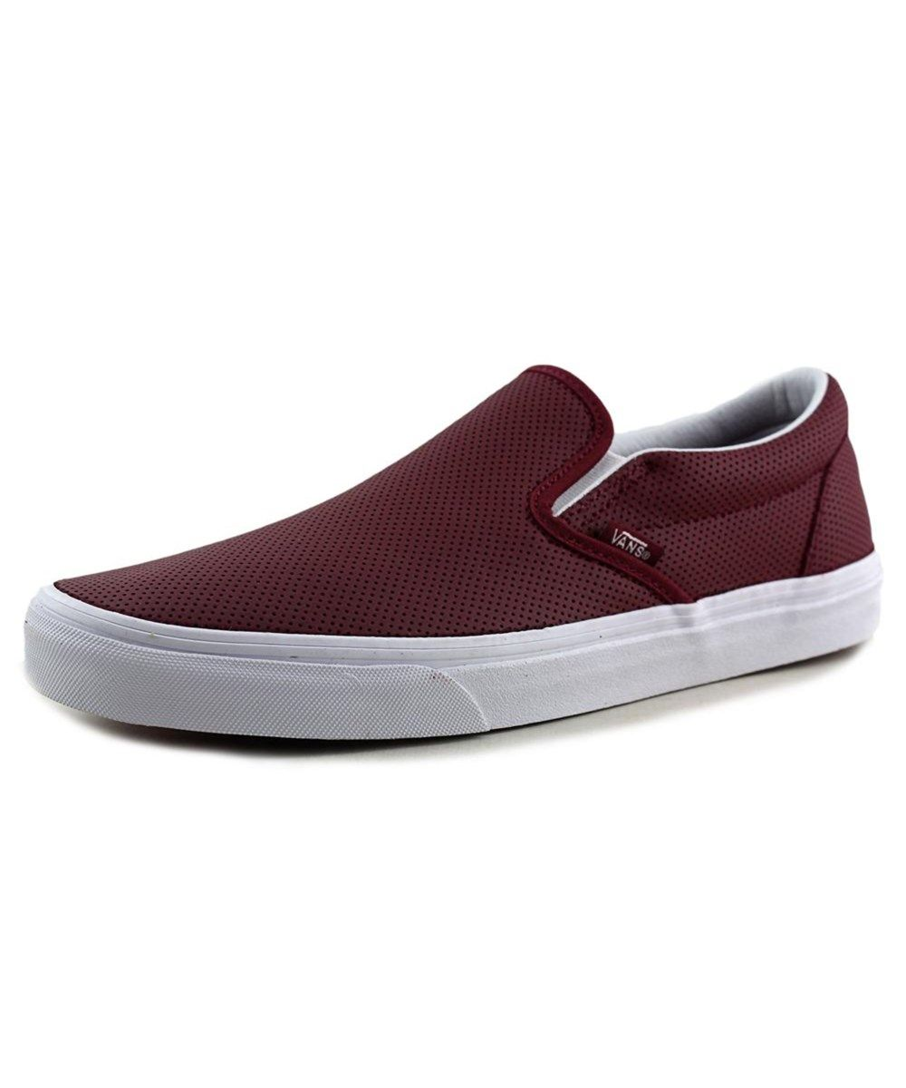 vans slip on burgundy