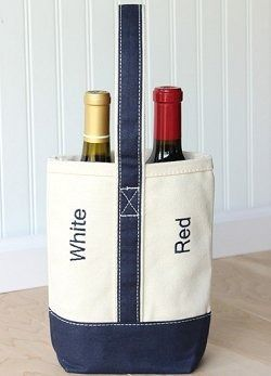 Yachtsman S Canvas Red White Wine Tote Price 28