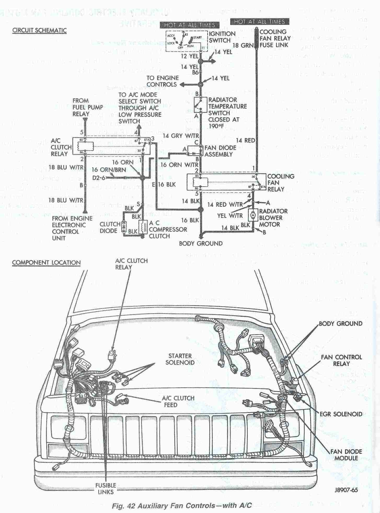 New 1998 Jeep Cherokee Headlight Wiring Diagram  Diagram