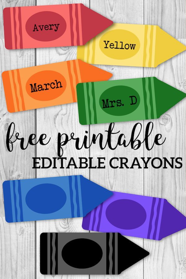 Free Printable Back to School Banner Crayons images
