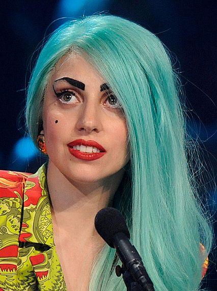 Turquoise Hair Lady Lady Gaga