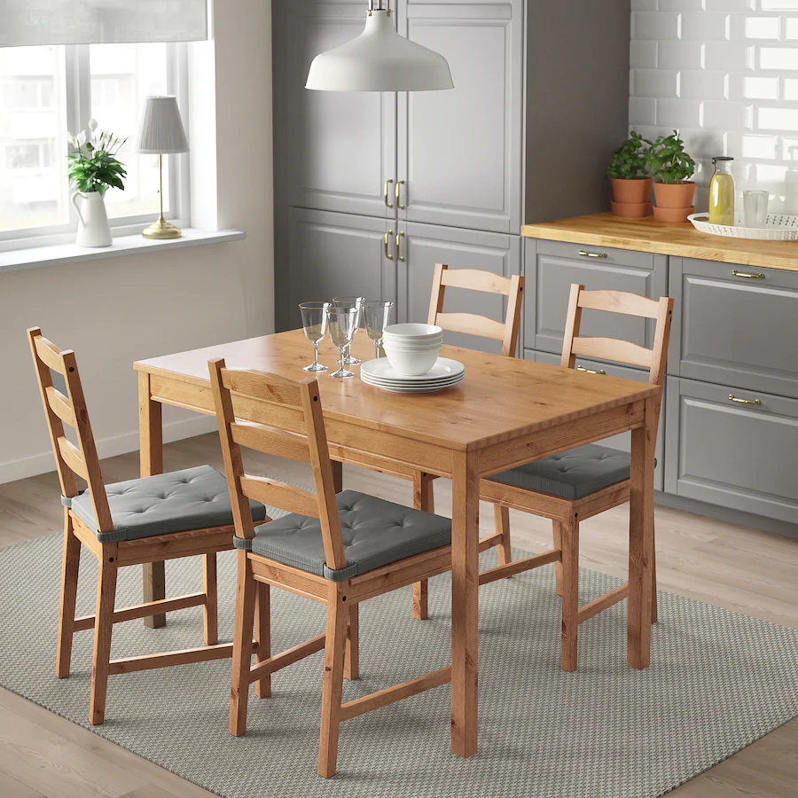 JOKKMOKK Table and 4 chairs, antique stain IKEA in 2020
