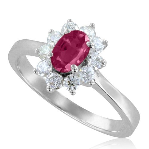 ruby and engagement ring replica of princess