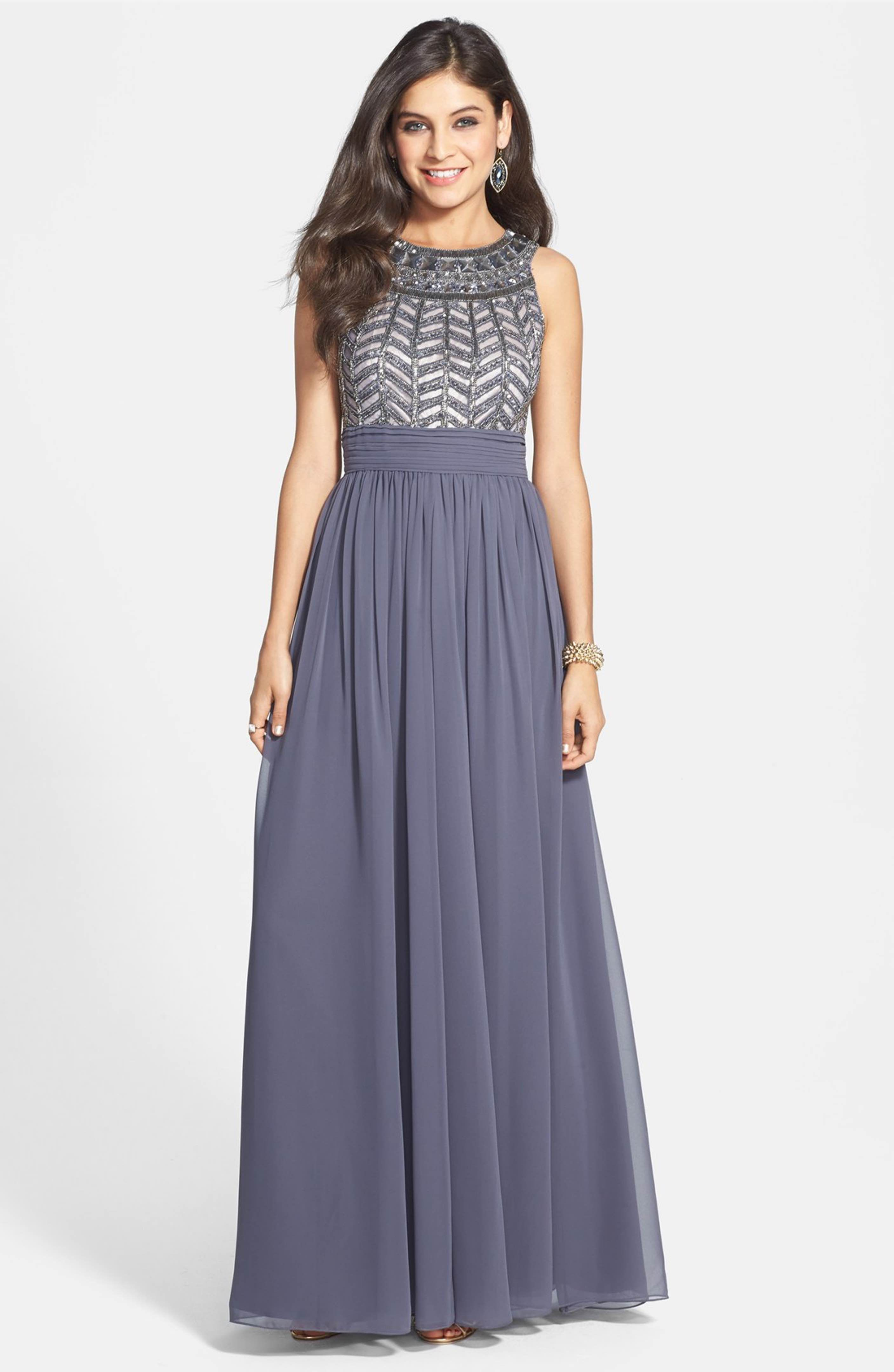 Main Image - JS Collections Embellished Chiffon Gown | mother of the ...