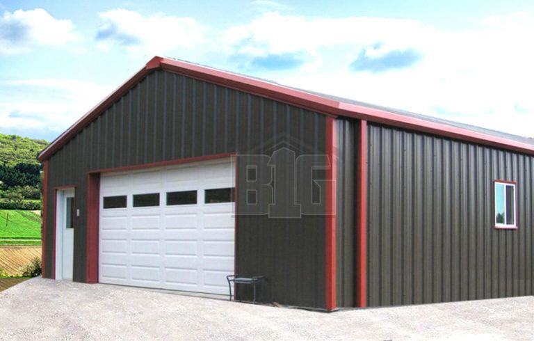 Maverick Metal Garage 24x30x10 Big Buildings Direct Metal Garages Metal Garage Buildings Metal Shop Building