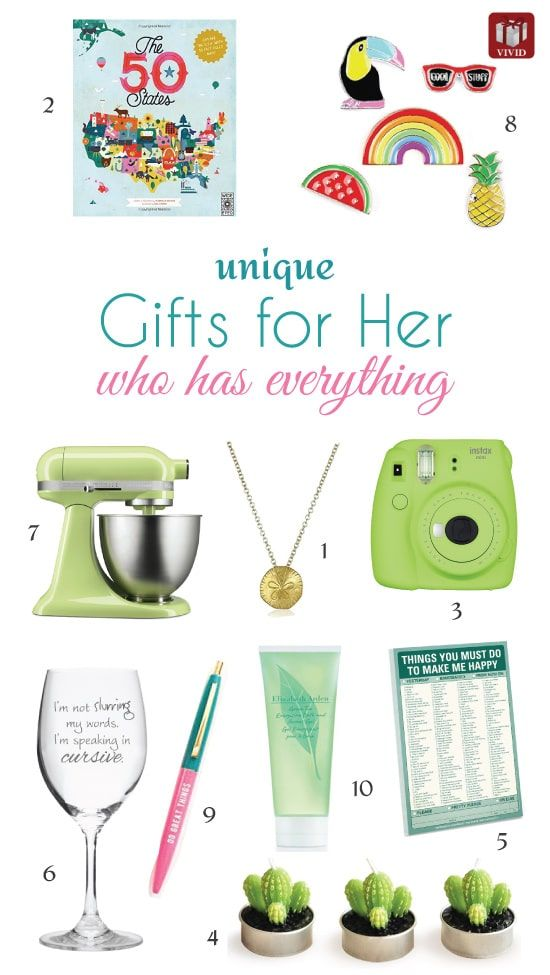 Unique Gifts For Girls Who Have Everything Suitable Christmas Birthday Valentines Day