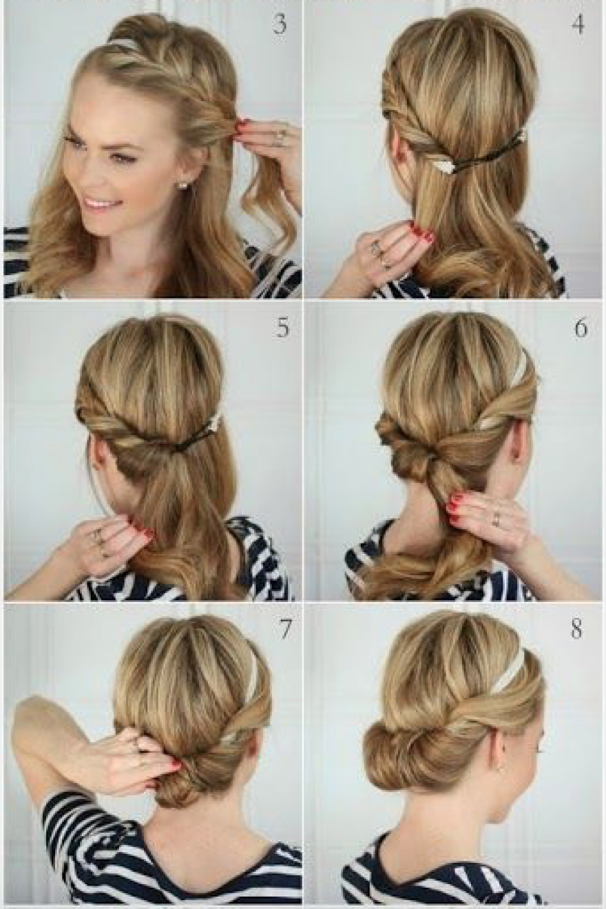 Afbeeldingsresultaat Voor Vlug Opgestoken Haar Frisuren Frisur Hochgesteckt Haarband Frisur