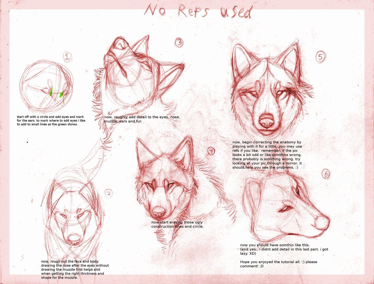 Wolf drawing tutorial by ~B-theawsomegeek on deviantART | Drawing ...