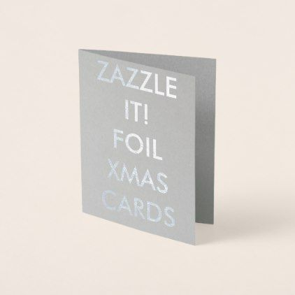 Custom Personalized Silver Foil Greeting Card - greeting card template