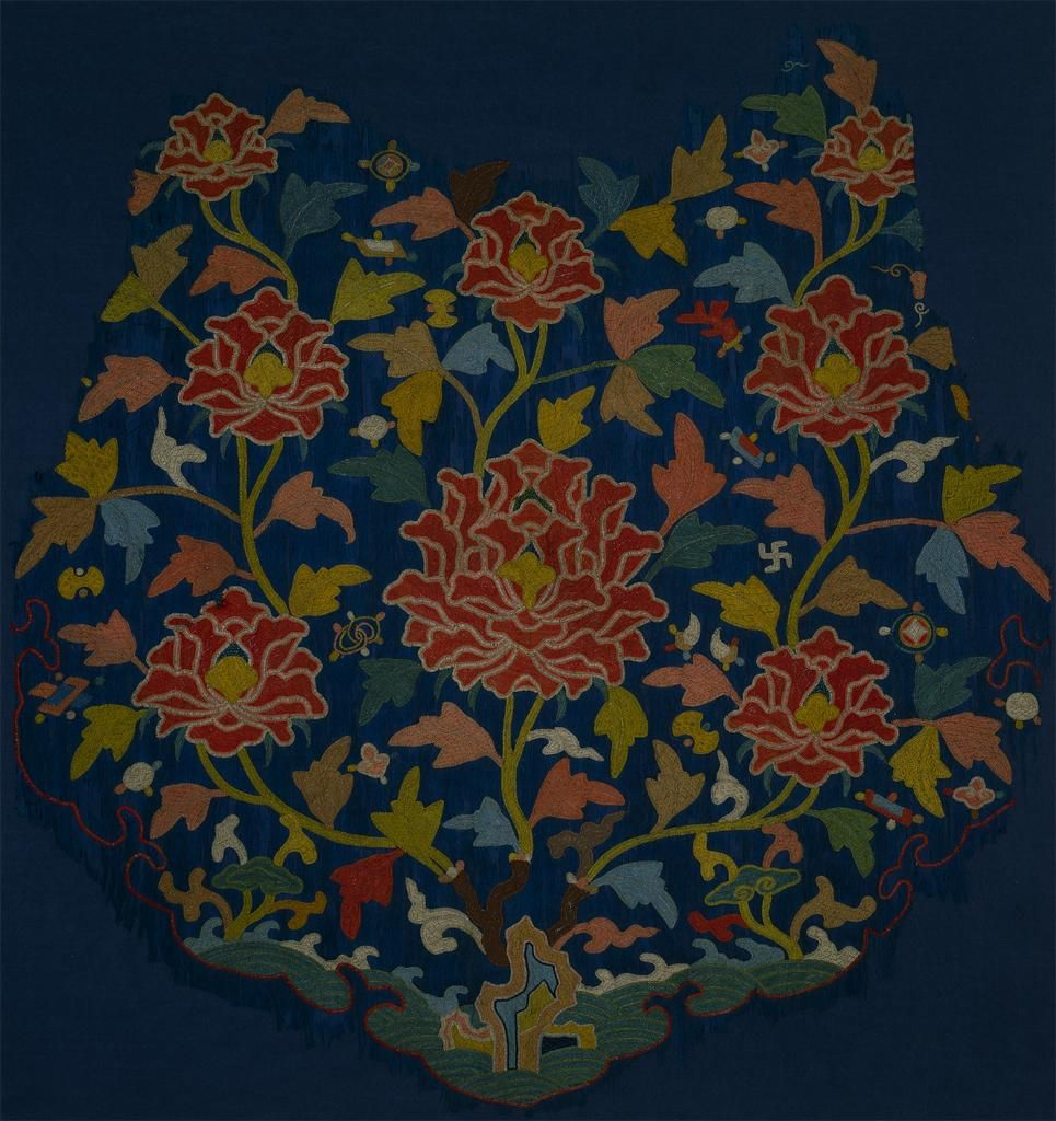 Yuan to Ming Dynasty, 14th century cloud collar embroidery