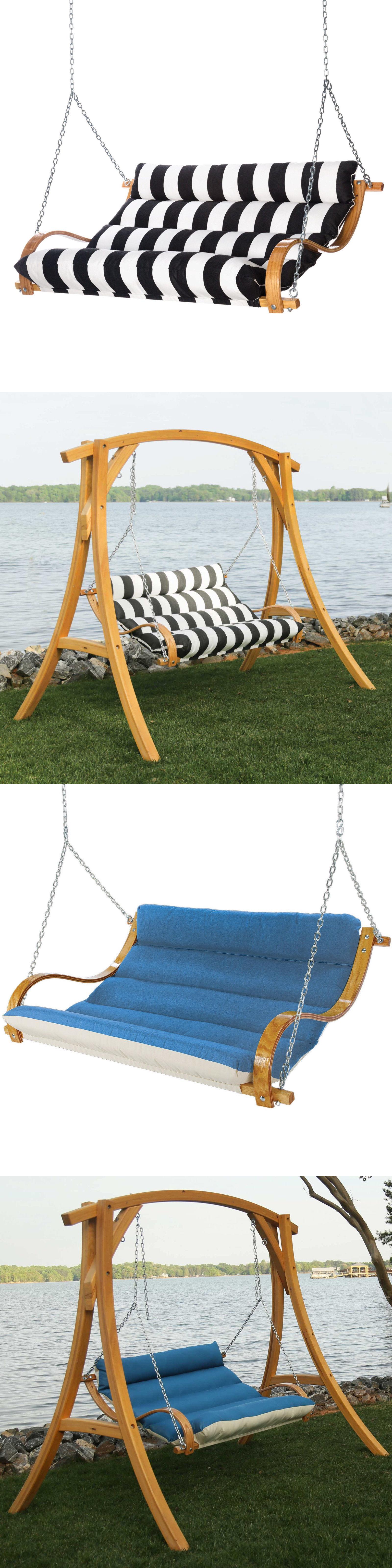 Swings hatteras hammocks deluxe sunbrella double hammock