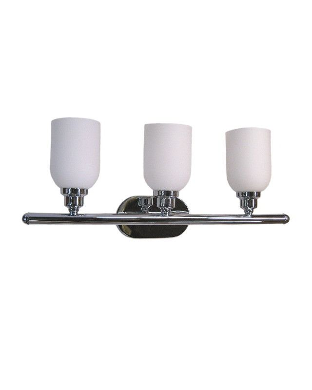Epiphany lighting 103674 ch three light bath wall fixture in chrome finish quality discount lighting