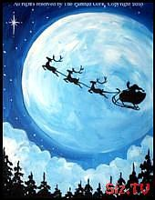 40 Beautiful Christmas Painting Ideas to Try This Season,  #Beautiful #Christmas #Ideas #Pain…