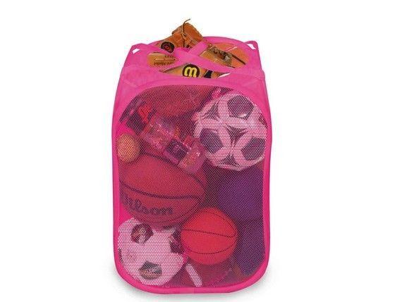 College Dorm Room Closet Storage Organizer Pop Up Laundry Hamper Basket Pink New