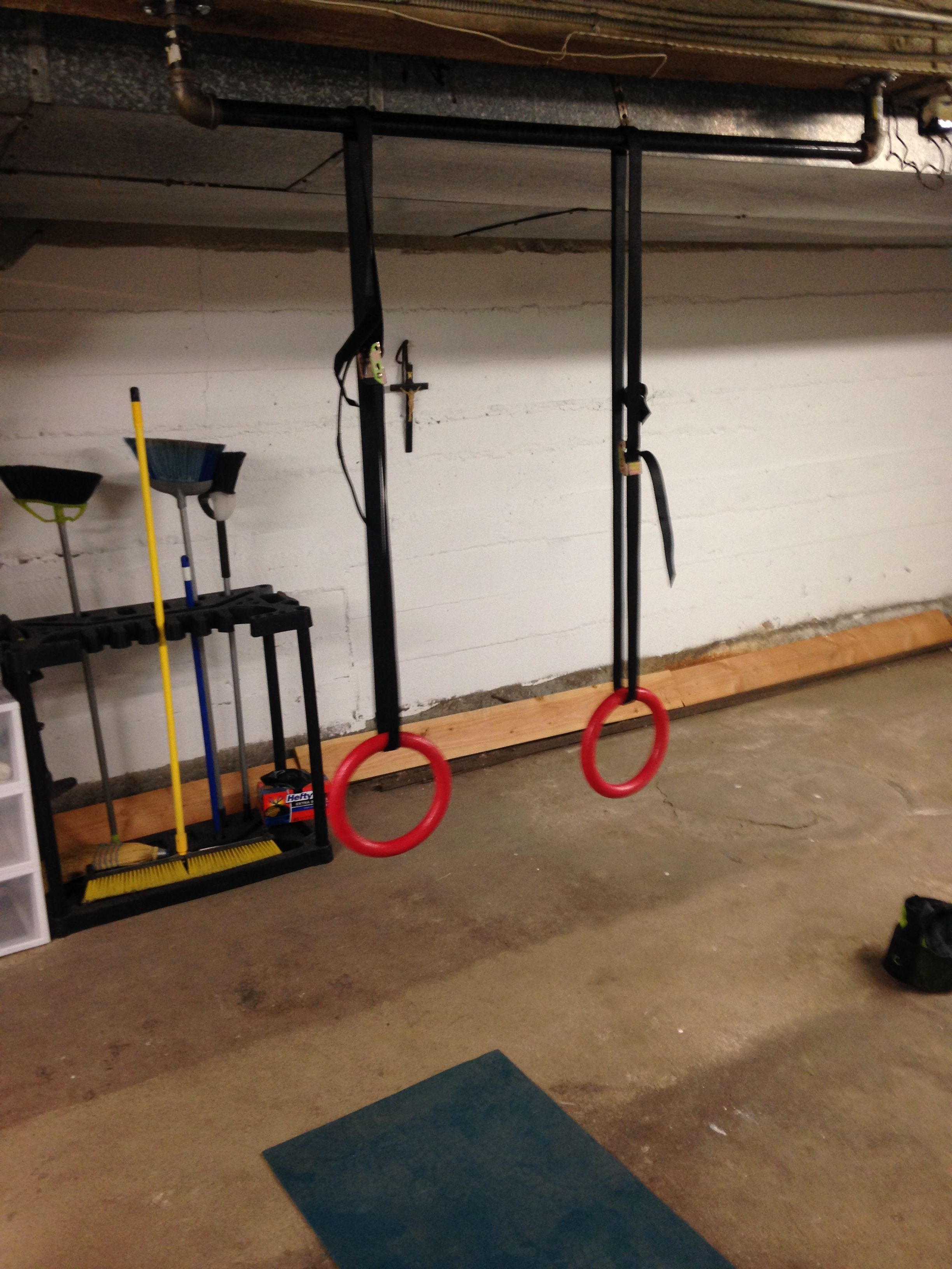 We Have A Ceiling Mounted Pull Up Bar And A Set Of Rings Pull