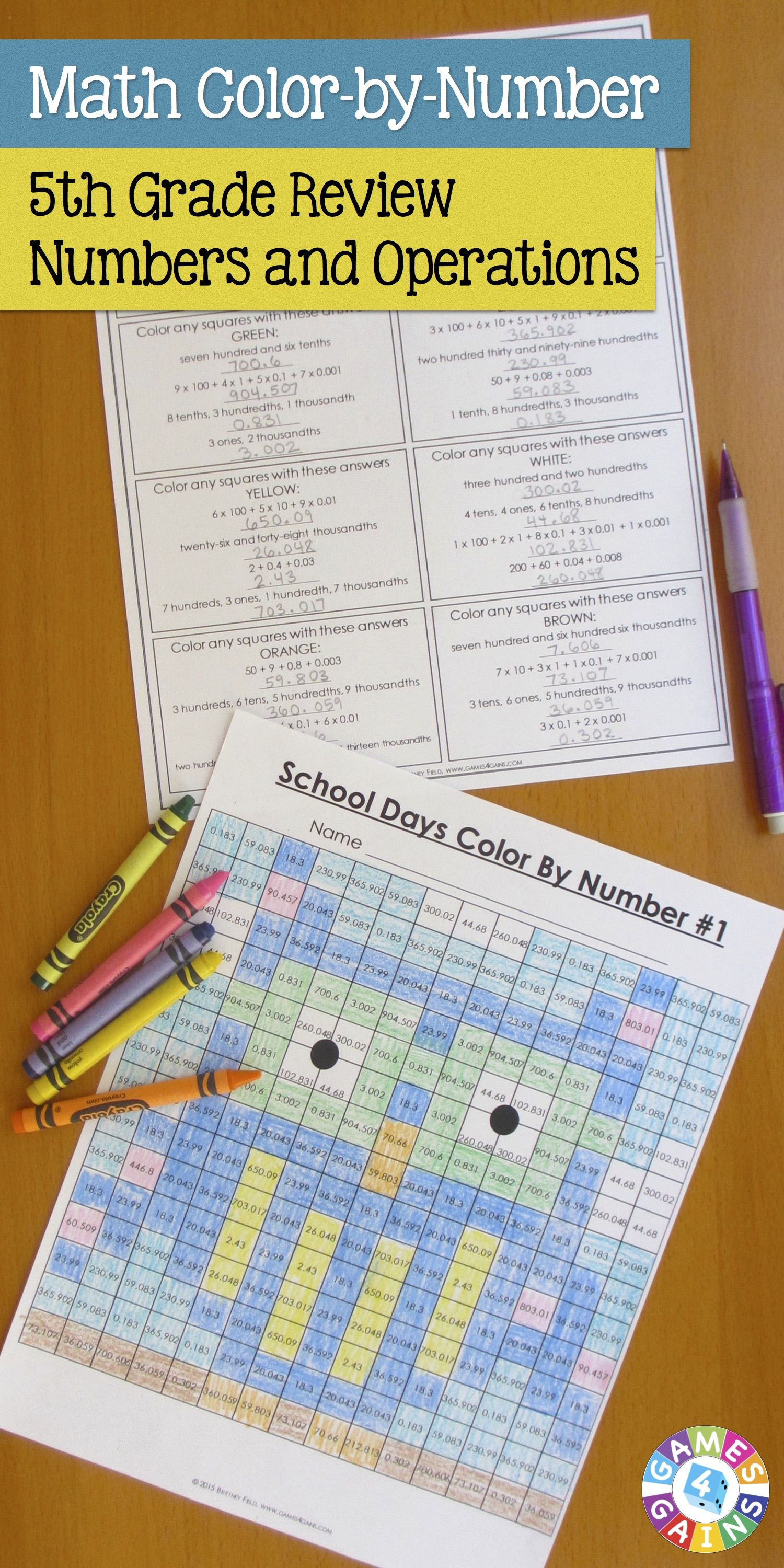 5th Grade Place Value Worksheets Also For 6th Grade Back To School Math Review