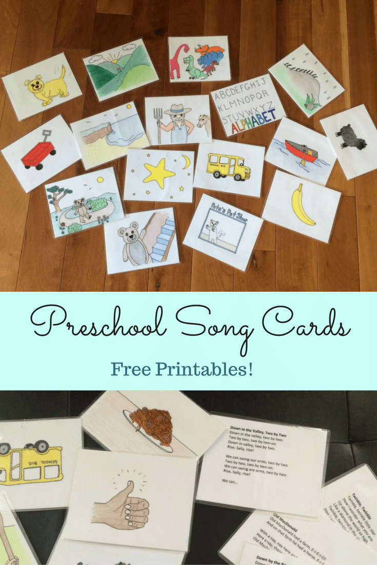 Kids Songs Visual Cards - Free Early Learning Printable Resource ...