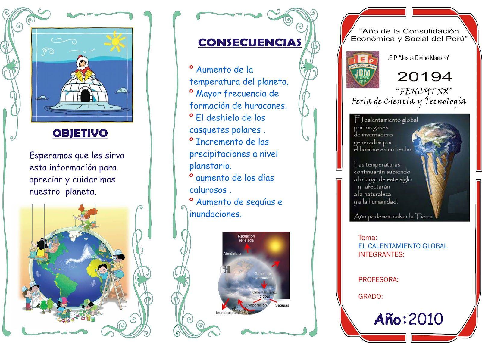 Tripticos creativos escolares buscar con google for Proyecto para una cantina escolar