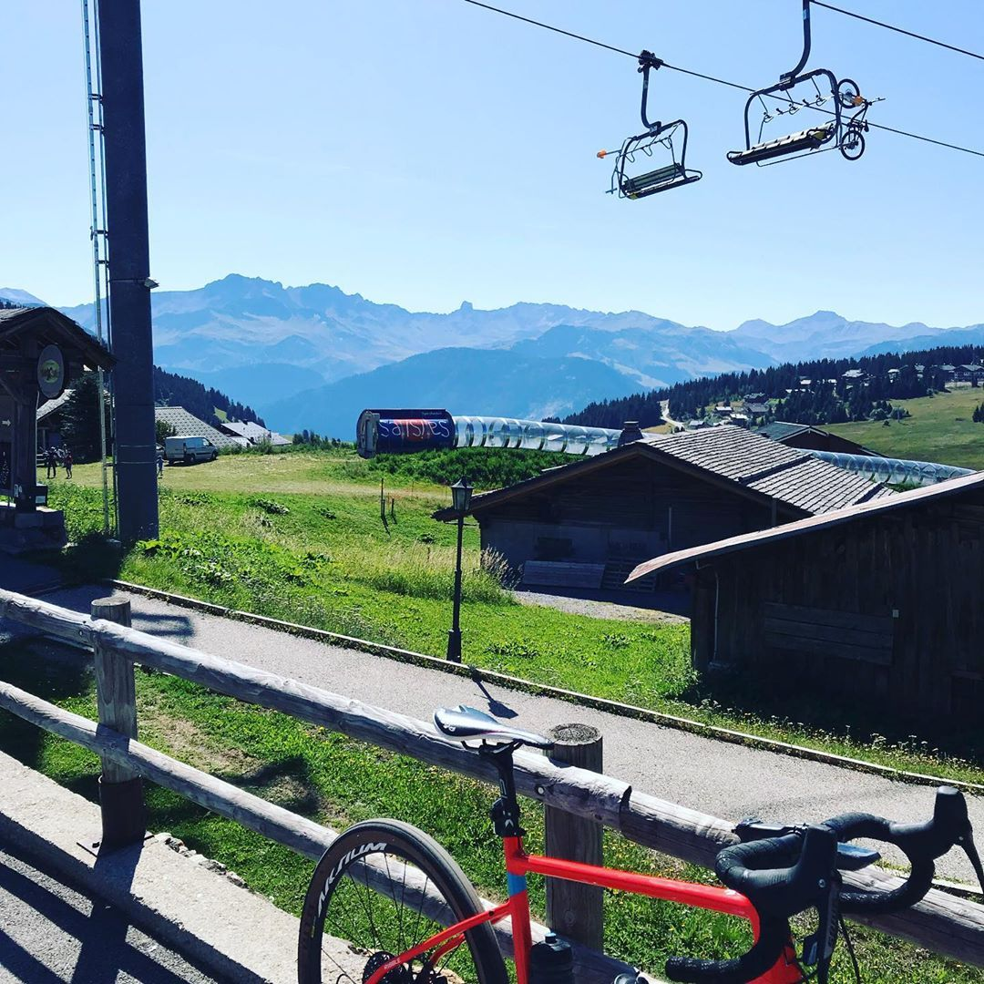 Ride Upto Les Saisies This Morning Wanted To Do That One For A Few Years Myribble Ribble Alps Lessaisies Holidayfun Pretty Fun Coming Down The Other Resim
