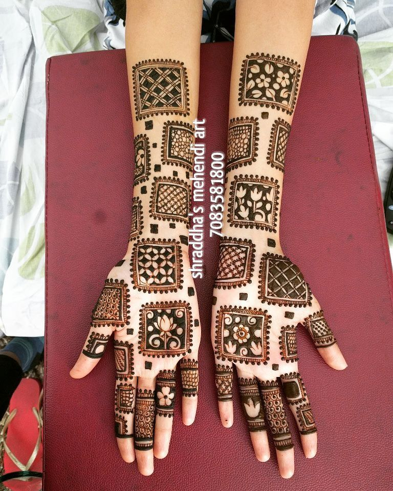 royal front hand mehndi design back side