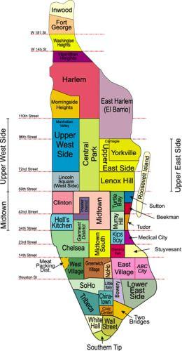 Manhattan Neighborhood Map httpwwwmoving2manhattancom