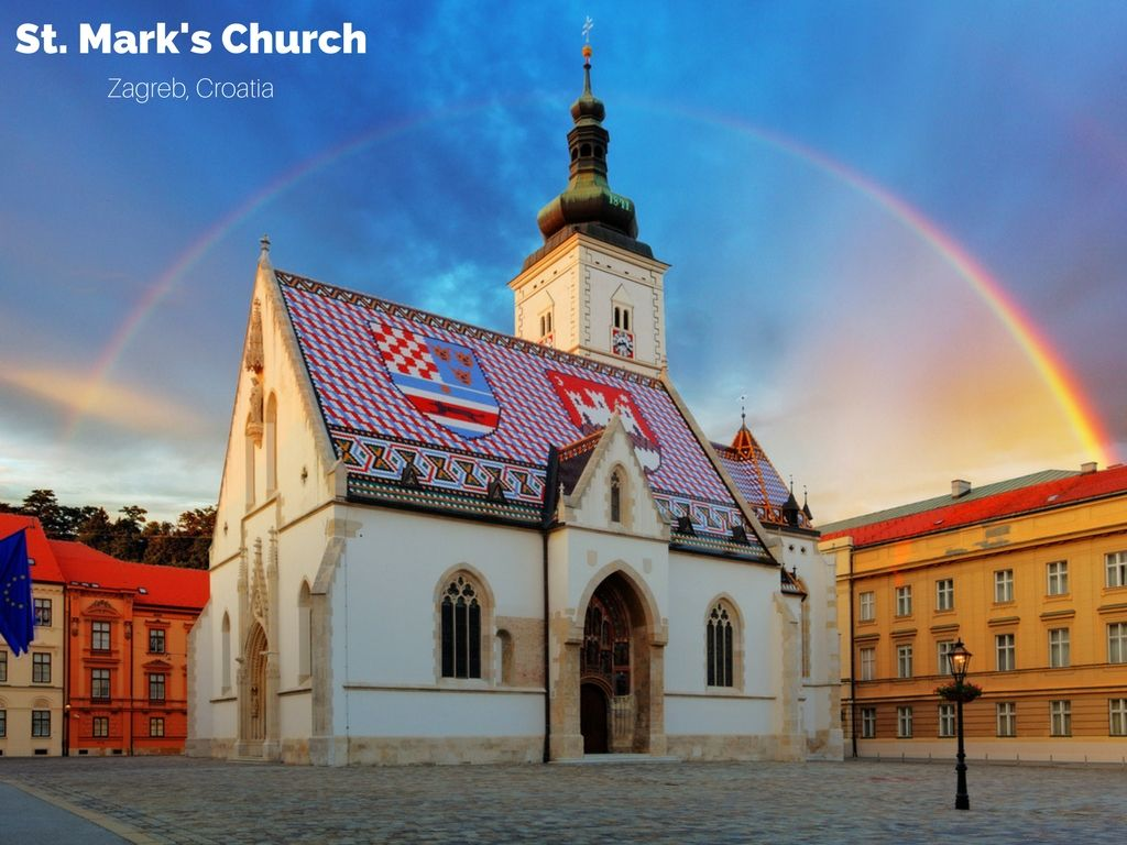 Somewhere Over Croatia St Mark S Church In Zagreb Is A Must Visit Gothic Marvel Dating Back To The 13th Century It Displays Zagreb Croatia Travel Croatia