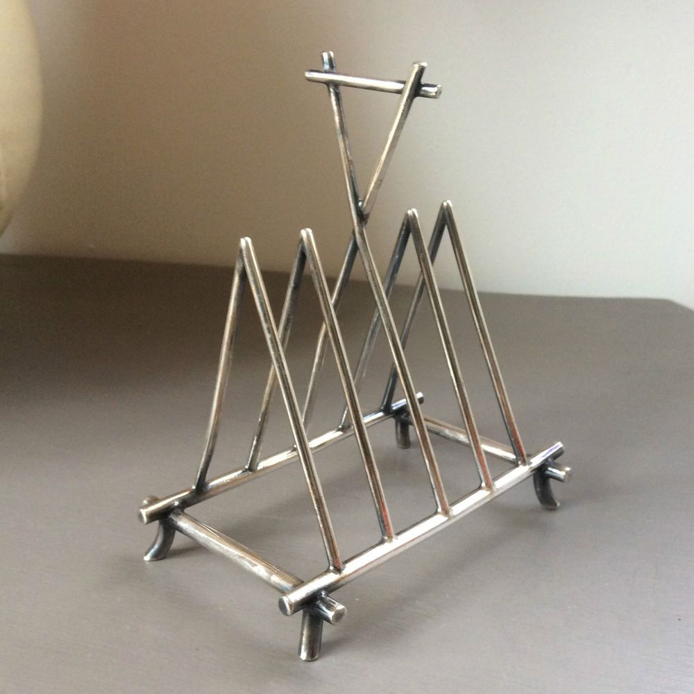 c1880 Victorian SHEFFIELD Silver plated TOAST RACK ...