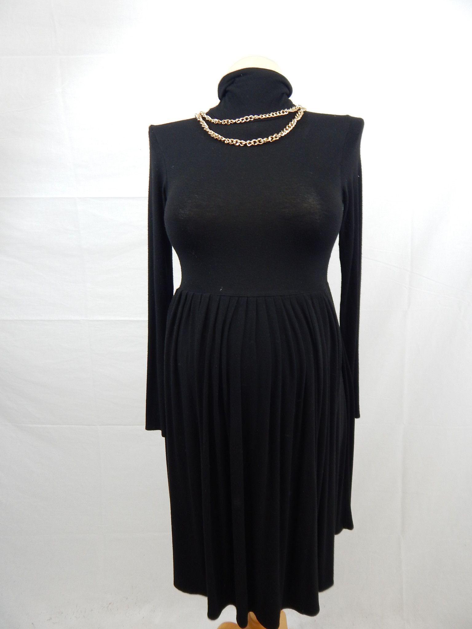 Black long sleeve turtleneck dresssmall products pinterest