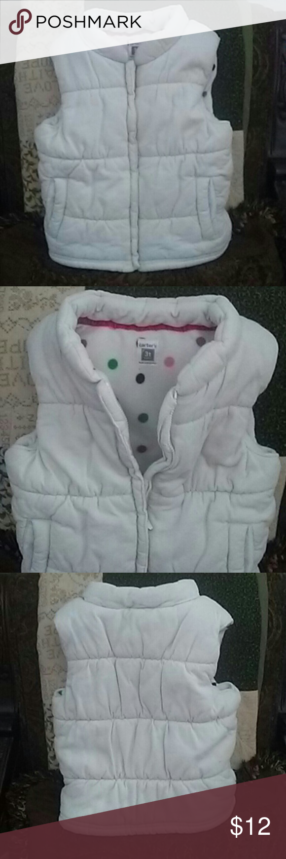 Carters white vest Toddler white carters vest Carter's Jackets & Coats Vests