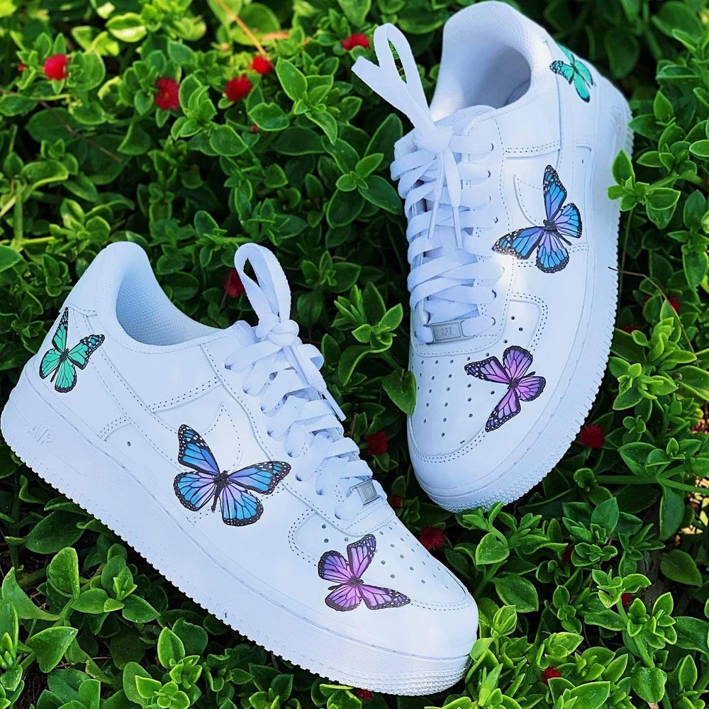 Pastel Butterfly Effect AF1 in 2020 Butterfly shoes