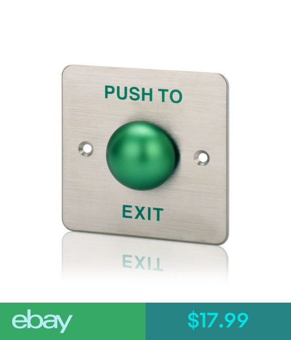 intercoms access controls green exit button door switch metal stainless steel for access control system eba access control system access control door switch pinterest
