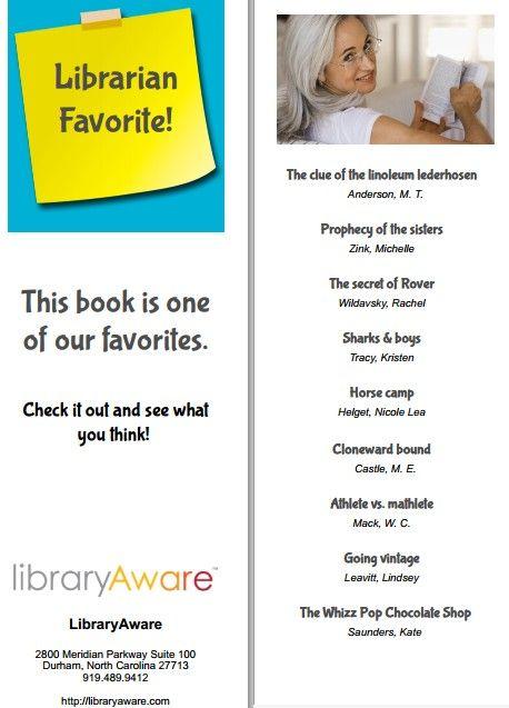 Bookmark, Staff Picks 2