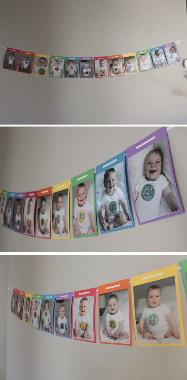 Photo Banner Rainbow Birthday Party First Birthday Parties Rainbow Birthday